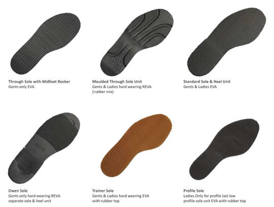 6 options for shoe soles